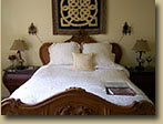 Photo of Highlands Room bed at the Haliburton B&B