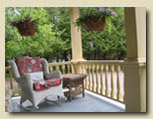 Photo of front veranda at Haliburton bed and breakfast